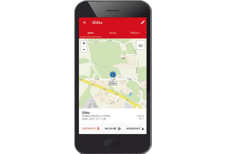 Mobilní aplikace ONI system náhled